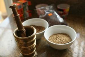1 - prepping coriander